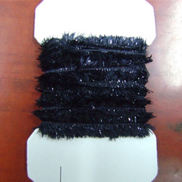chenille plate noir